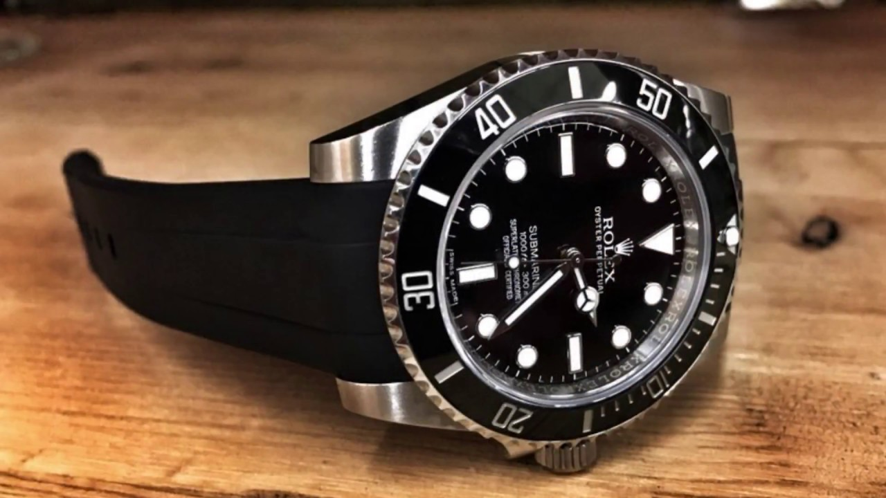 Rolex Rubber Rubber B Strap On Rolex Submariner Watch Strap Band Review