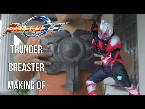 Ultraman Orb Thunder Breaster cosplay costume progress
