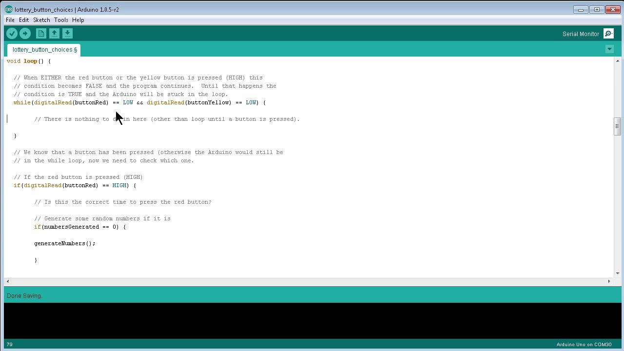 Ctf arduino variables in while loops and waiting for