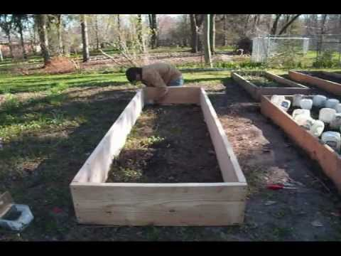 How to build raised beds for cheap migardener youtube for Cheapest way to build a building