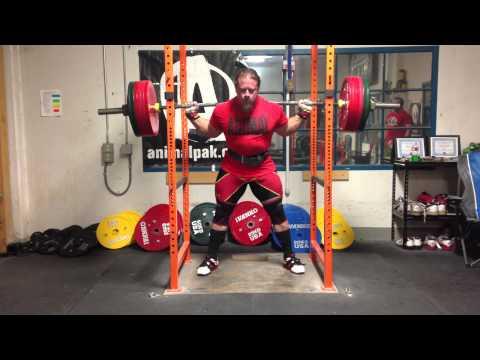 Dan Green -- squat 771x3 raw (350 kg)