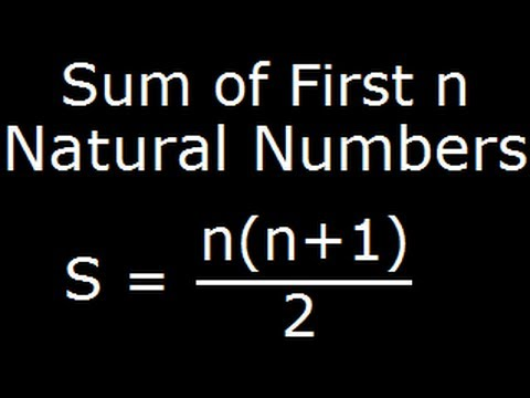 Sum of first n natural numbers - Derivation of a formula