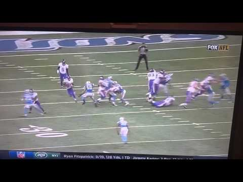 Adrian Peterson busts 75 yard run against the Lion