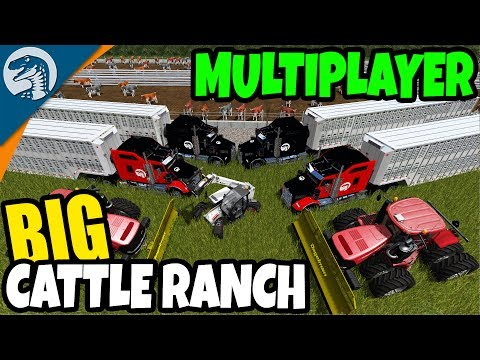 GIANT AMERICAN CATTLE RANCH & BEEF PRODUCTION | Farming Simulator 17 Multiplayer Gameplay