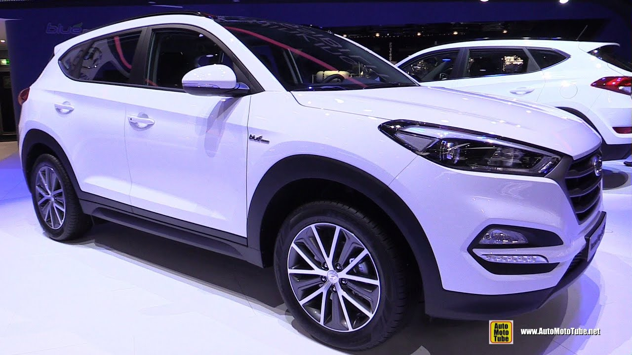 2016 hyundai tucson plug in hybrid exterior walkaround 2015 geneva motor show youtube. Black Bedroom Furniture Sets. Home Design Ideas