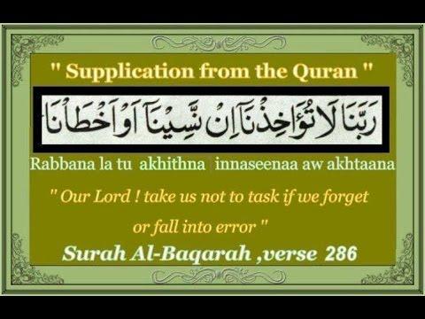 The last two verses of Surah Al-Baqarah | Quran Al Hakeem