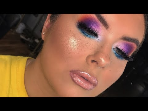 Blown Out Colourful Glam || Leighvi Nel Makeup