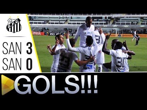 Santos 3 x 0 Santos (AP) | GOLS | Copa do Brasil (28/04/16)
