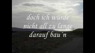 Echt  - Du trägst keine Liebe in dir - meine Cover-Version (+ lyrics)