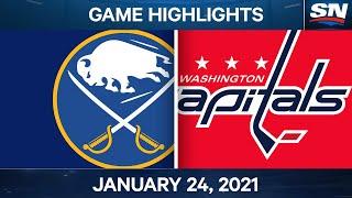 NHL Game Highlights | Sabres Vs. Capitals - Jan. 24, 2021