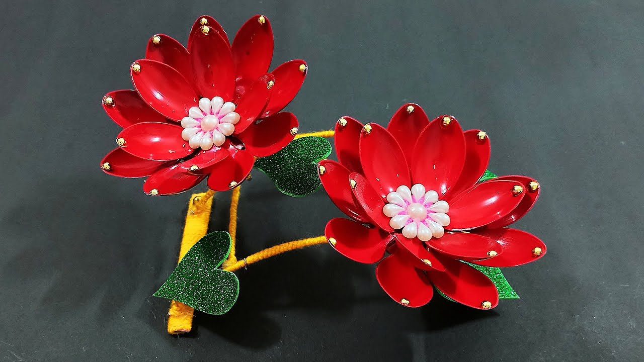 DIY Lotus Showpiece for Home Decor   Beautiful Showpiece idea