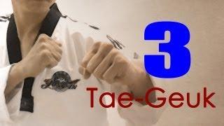 WTF Taekwondo poomsae Taegeuk 3 Jhang (taekwonwoo) 태극 3장