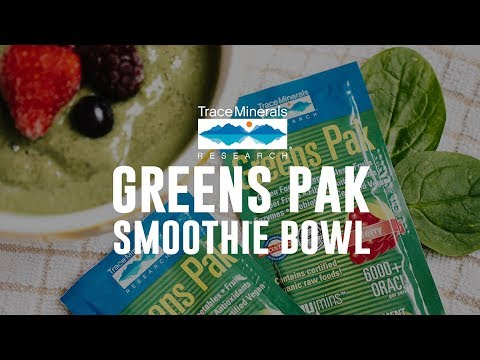 Trace Minerals - Greens Pak Smoothie Bowl