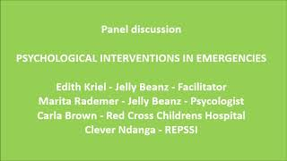 Child Trauma Conference 2020 - Panel discussion on Psychological interventions in emergencies