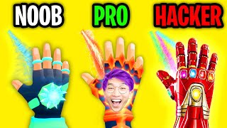 Can We Go NOOB vs PRO vs HACKER In ICE MAN 3D!? (MAX LEVEL!)