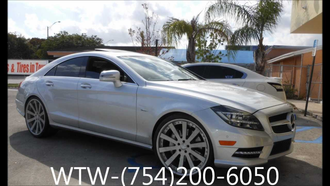 Acewhips Net Wtw Customs Broward 2012 Mercedes Benz Cls550 On 22 Quot Otto Forgiatos Youtube