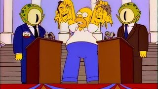The Simpsons BILL Clinton as Alien - Two Party System Presidential Candidates