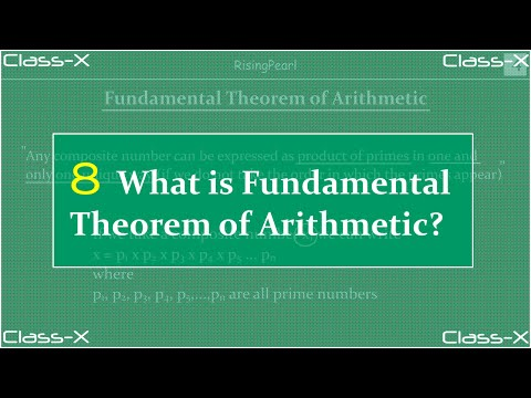 Real numbers - What is Fundamental theorem of Arithmetic?