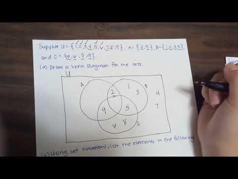 Drawing Venn Diagram Youtube