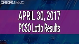 PCSO Lotto Results April 30, 2017 (6/58, 6/49, Swertres & EZ2)