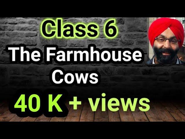 6th Class The Farmhouse Cows Lesson 1 Pseb Youtube