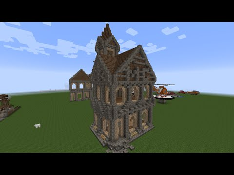 Minecraft How To Build A Small Medieval Castle Part 4