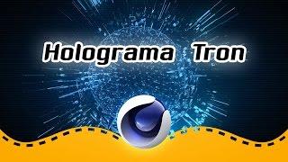 Holograma Tron - Cinema 4D C4D em português