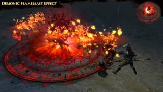 Path of Exile - Demonic Flameblast Effect