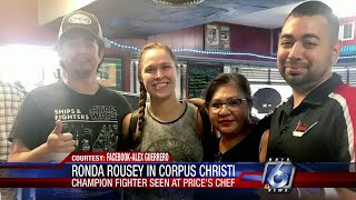 Ronda Rousey spotted at Corpus Christi cafe