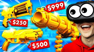Selling ULTRA NERF WEAPONS In VIRTUAL REALITY (Weaponry Dealer VR Funny Gameplay)
