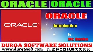 Oracle Tutorial    Oracle Introduction by basha