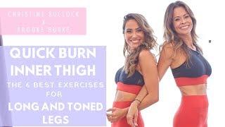 Quick Burn Inner Thigh: 6 Best Exercises for Long and Toned Legs | Christine Bullock x Brooke Burke