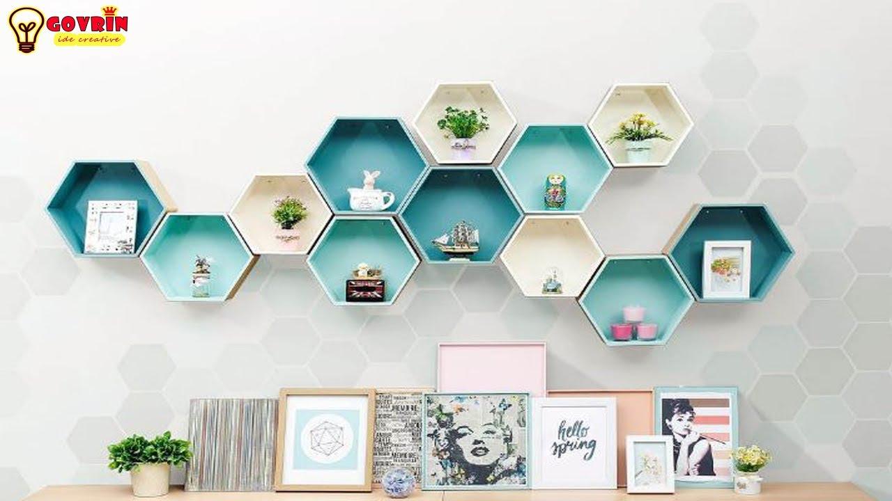 Cara Membuat Rak Dinding Buku Di Dinding Dengan Kardus Bekas Diy Home Decor