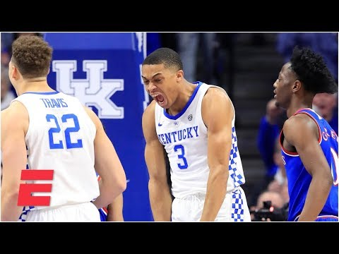 Kentucky grinds out win over Kansas in SEC-Big 12 Challenge | College Basketball Highlights