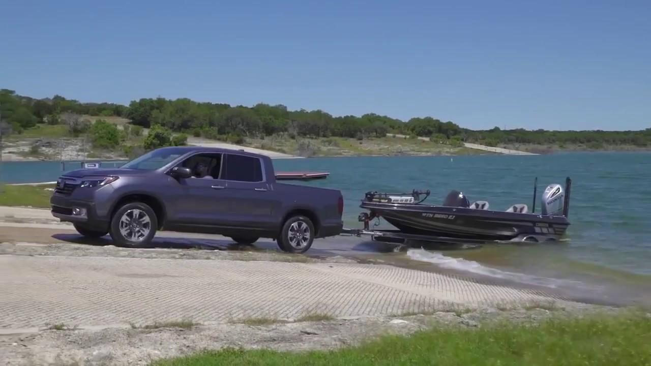 2017 Honda Ridgeline Boat Launch Simulation Youtube Towing With