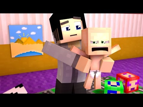 A FATHER TO 7 BABIES?!   Minecraft 7 Toddler Challenge