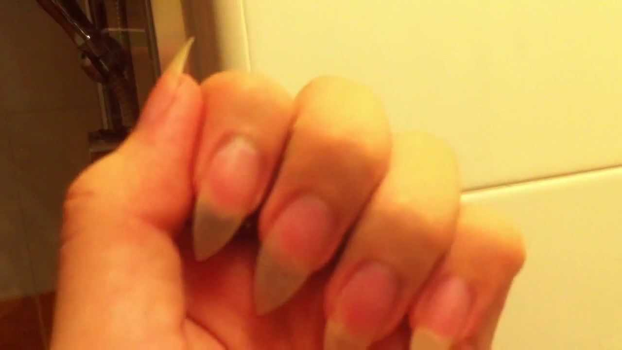 My Natural Claw nails - YouTube