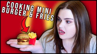 Hey guys! today we are making the smallest burger and fries ever!! make sure to like this video if you want see more videos this! stay safe, everyone! , links:, twitter : ...