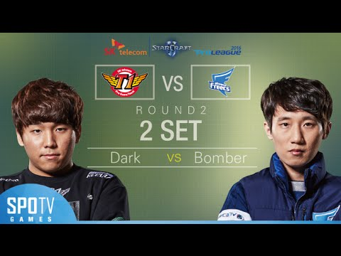 [SPL2016] Dark(SKT) vs Bomber(Afreeca) Set2 Dusk Towers -EsportsTV, Starcraft 2