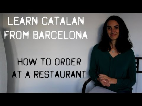 Learn Catalan: expressions to order at a restaurant