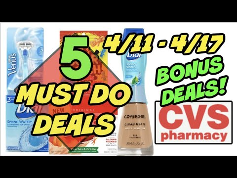 5 MUST DO CVS DEALS (4/11 – 4/17) | Razors, Makeup, Dial Body Wash for 71¢!