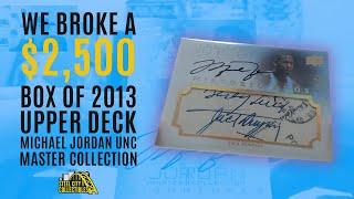 Michael Jordan Upper Deck Master Collection Basketball LIVE Box Break