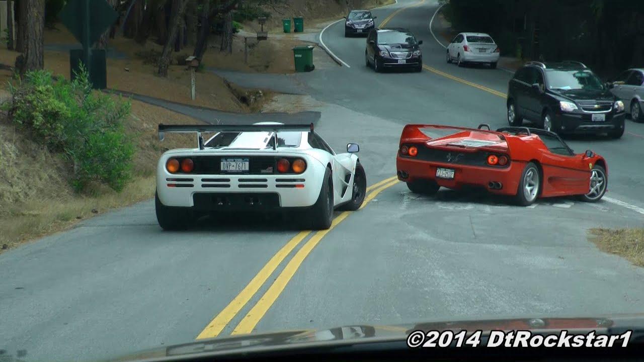 Mclaren F1 Amp Ferrari F50 On The Road Monterey Youtube