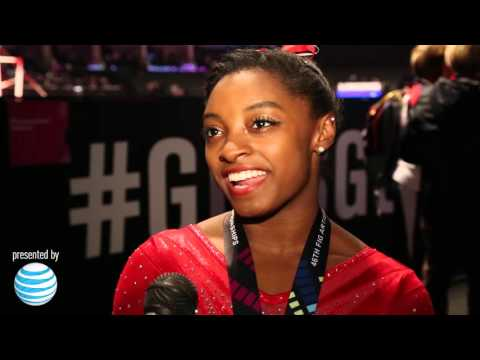 """Simone Biles – Interview – 2015 World Championships – All-Around Final"""