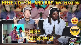 Heize x Dean - And July Reaction 헤이즈 x 피키라이브] 딘 Music  Kpop Resimi