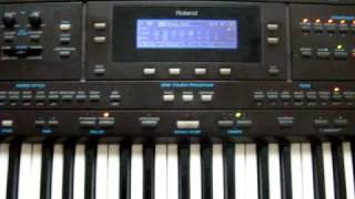 Jazz Improvisation on Roland E-500 oriental keyboard