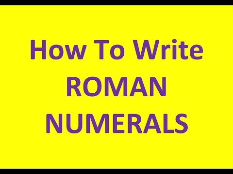 Roman Numerals - Numbers up to 40 (test)