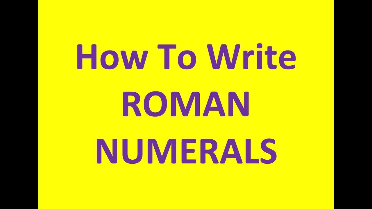 write 40 in roman numerals