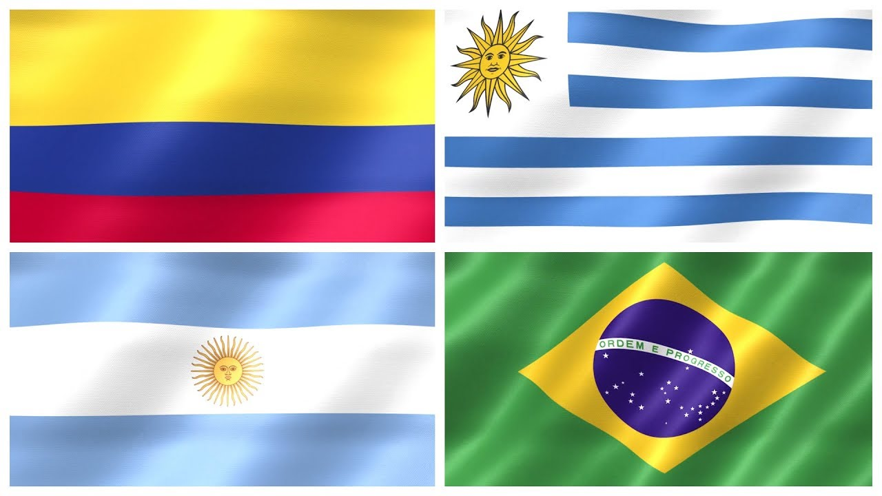 FLAGS OF SOUTH AMERICA National Flags of South American Countries for Kids Kindergarten YouTube