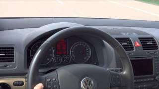 VW Golf 5 1.6 FSI 0-100, 0-200, vmax, eMFA Test